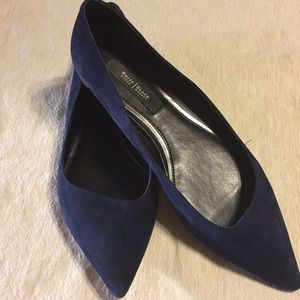 WHBM navy /suede flats